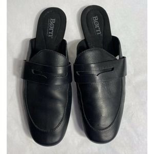 Born Cayo Mule 7 Loafer Shoes Black Leather Slip